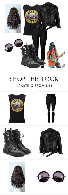 """Costume#6 Slash Guns n roses"" by karla-renne on Polyvore featuring moda, Miss Selfridge, Giuseppe Zanotti, VIPARO y Linda Farrow"