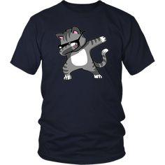 Dabbing Cat Funny T-Shirt Dab Hip Hop Dabbing Kitten