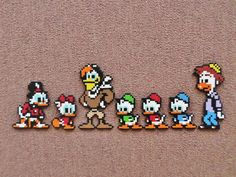 Long Black Fingers : Duck Tales Perler Beads