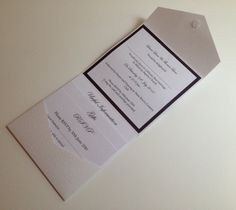 Glitter Wrap Pocketfold Wedding Invitation by CanIDoUAFavour