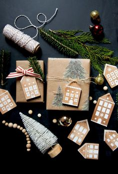 Gingerbread House Wood Ornaments made from scraps of wood and white vinyl Christmas Wood, Diy Christmas Ornaments, How To Make Ornaments, Christmas Projects, Christmas Decorations, Christmas Ideas, Holiday Decor, House Ornaments, Wood Ornaments