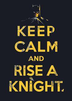Keep Calm Knight by Barn Bocock