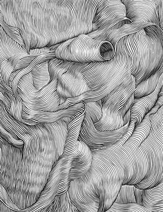 Pin by famenitcha t. on illustration / draw arte lineas, arte lineal, arte gráfico Op Art, Art Graphique, Elements Of Art, Gravure, Aesthetic Art, Doodle Art, Art Drawings, Contour Drawings, Cross Contour Line Drawing