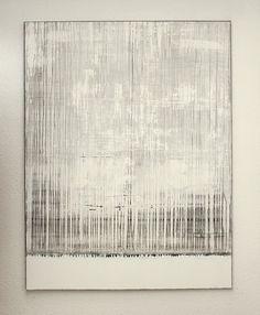 "hetart: white grey painting 02, 51,2"" x 30,4"" (130x100cm), mixed media on canvas art by CHRISTIAN HETZEL"