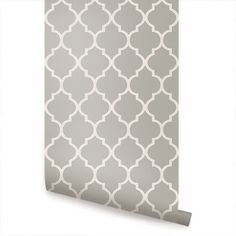 Great for Elli's bedroom to do an accent wall: Moroccan Grey - Wallpaper - Simple Shapes
