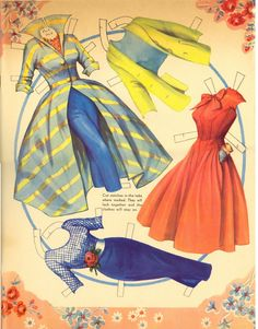 Kathleen Taylor's Dakota Dreams: Thursday Tab- Saalfield Rhonda Fleming 1954