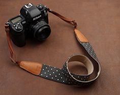 Yummy dslr strap, https://www.etsy.com/listing/153996791/holidays-gift-polka-dot-camera-strap