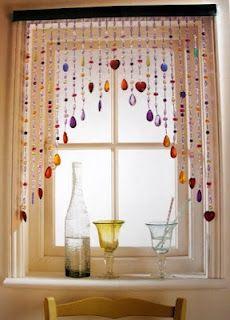 beaded curtain...I want this around my kitchen window! ♥