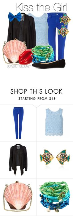 """""""Kiss the Girl"""" by lovelylittledisney ❤ liked on Polyvore featuring Polo Ralph Lauren, Ally Fashion, Rosemunde, Juicy Couture, Rocio, Charlotte Russe, disney, thelittlemermaid and lovelylittledisney"""