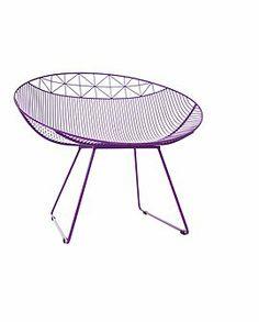 Metallstuhl Lounge In diesen extra breiten Metallstühlen können sich Ihre Kinder bequem entspannen. Wir bieten Sie in drei Farben an: lila, ...