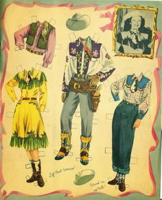 Roy Rogers and Dale Evans cut-Out Dolls (4 of 8), 1960 Whitman #1186
