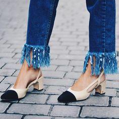 @babibalublog wearing fray cropped jeans
