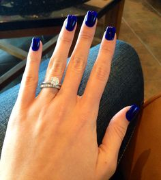 My new favorite color! The perfect blue/navy combo. #34 gel powder from Sweet Escape Nail Lounge.