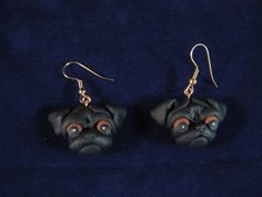 0803fcba0 Pug Earrings! All proceeds benefit pugs in rescue. ♥ Pug Rescue, Animal  Rescue