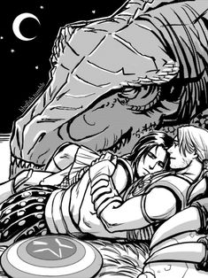 """hopeless–geek: shipperhipster: bbqfish: """"Silent night"""" This T-Rex is too cute! I want one! Planet Hulk credits: Writing: Sam HumpriesArt: Marc LamingFanart: bbqfish Never getting over the stunning visuals of planet hulk. This is how it ended. You won't convince me otherwise."""