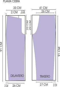 Pantalon pijama molde - Imagui
