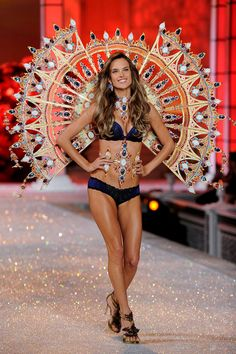 Model Alessandra Ambrosio 2011 Victoria's Secret Fashion Show