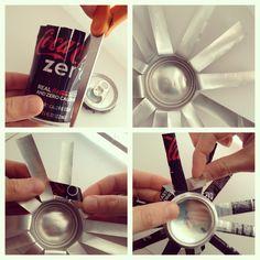 #diy #upcycled soda can tea light holders