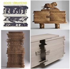 If It's Hip, It's Here: Good Vibrations and F* The Classics! Distorted Furniture by Studio Laviani.