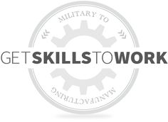 GE's new collaborative program, Get Skills to Work, joins major manufacturers  and educators to prepare and place veterans in long-term careers. With an  estimated 600,000 open advanced manufacturing jobs across America, this  program is committed to closing the gap and creating new futures for those who  worked to make ours better