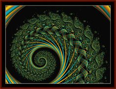 Fractal cross stitch patterns at Cross Stitch Collectibles