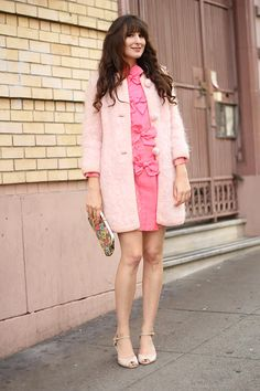 Goodwill Street Style Inspiration: Ashley Ording is Pretty in Pink #streetstyle #SF #thrift #goodwill #recycle