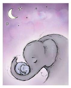 Elephants 💜 Children's Illustration