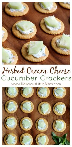 These crackers are the perfect appetizer for Spring! The herbed cream cheese is delicious with the fresh cucumber! They are a fun spin on classic cream cheese and cucumber sandwiches in cracker form! | www.DeliciousLittleBites.com AD #RITZpiration
