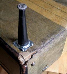 diy project: ashley's vintage-suitcase coffee table   Design*Sponge