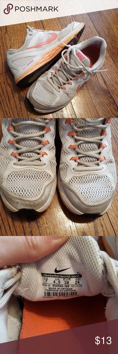 Nike dual fusion Good used condition. Worn, but lots of use left in them. Size 7 women's. Nike Shoes Athletic Shoes