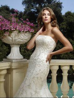 "Casablanca Bridal 1978 hemmed >5'7"" size 8 corset back $650"