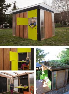 The inspiration for our playhouse competition marketing postcard... Designed by California-based Modern Cabana