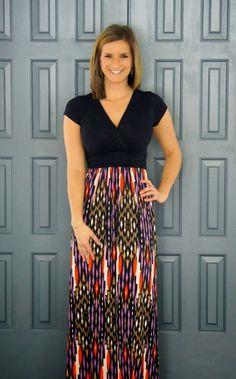 Gilli - Sina Vneck Printed Maxi Dress from @stitchfix #stitchfix www.livinginyellow.com