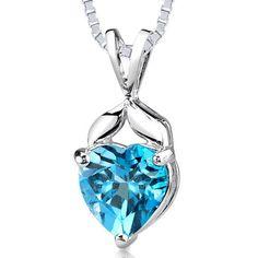 Peora.com - Swiss Blue Topaz Pendant Necklace Sterling Silver Heart 3 Carat SP1954, $39.99 (http://www.peora.com/swiss-blue-topaz-pendant-necklace-sterling-silver-heart-3-carat-sp1954)