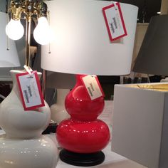 Red ceramic gourd lamp by Barbara Cosgrove...Made in the USA!!!! #hpmkt