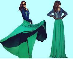 Love it!:)  #maxiskirt #chiffonskirt #longskirt