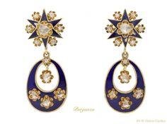front-view-Antique-diamond-enamel-earrings-berganza-hatton-garden