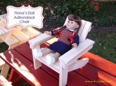 Ana White | Build a Fiona's Doll Adirondack Chair | Free and Easy DIY Project and Furniture Plans