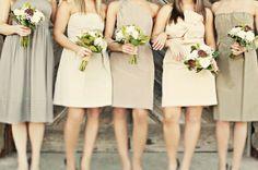 Soft palette. #wedding #bridesmaid #dress
