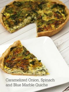 Caramelized-Onion-Spinach-Blue-Marble-Quiche and another chance to WIN!!