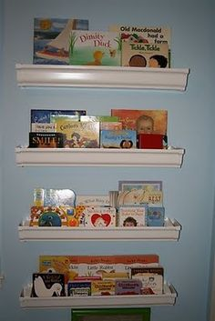 It's Written on the Wall: {Tutorial} What are Rain Gutter Book Shelves? (Rain Gutters)