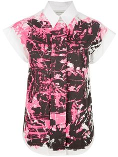 Something I really would like to wear this spring!   CEDRIC CHARLIER Splatter Blouse