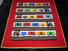 Train Quilt or Wall Hanging on Etsy, $150.00