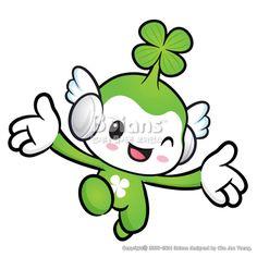 행운의 요정 캐릭터는 달려가고 있다. 자연 캐릭터 디자인 시리즈. (BCDS011593) Lucky Fairy character on Running. Nature Character Design Series. Copyrightⓒ2000-2014 Boians.com designed by Cho Joo Young.