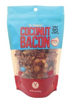Phoney Baloney's Coconut Bacon makes a perfect BLT or Elvis (peanut butter, banana and bacon) sandwich, works miracles as a salad topper, and can be used in tons of other applications- even in baking! Whole Food Recipes, Dog Food Recipes, Snack Recipes, Burger Recipes, Raw Recipes, Bacon Recipes, Recipies, Healthy Recipes, Vegan Foods