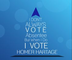 Absentee Vote Homer Hartage for the Orange County Commission, District 6, Florida