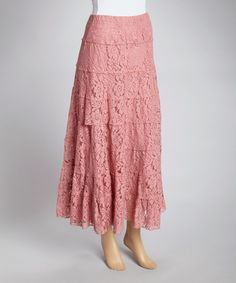 Look at this Rose Tiered Floral Mesh Maxi Skirt on #zulily today!