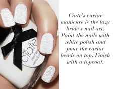 Sooo pretty Get inspired with beautiful manicure ideas for brides.