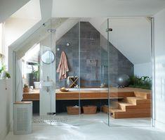 Une salle de bains zen sous les combles