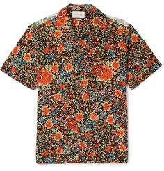afa15458e40 Gucci Jungle-print and appliqué linen T-shirt ( 720) ❤ liked on ...